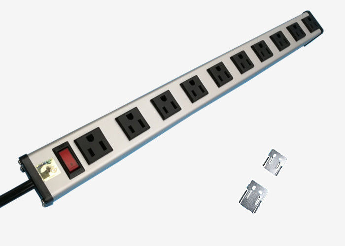 10 Way Outlets Multi Outlet Power Strip with Surge Protector / Circuit Breaker