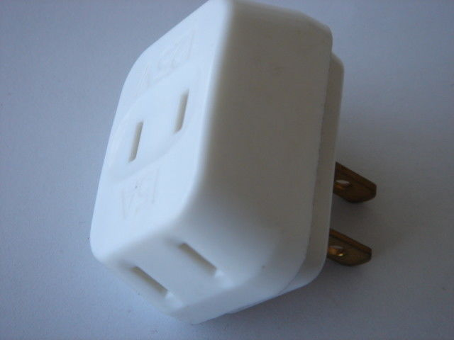 EU Electric Power Sockets With Plug And Jack , Power Travel Plug Converter Adapter
