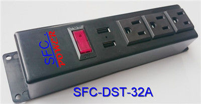 3 Socket Power Strip With USB Charger , Multi Function Multiple Power Outlet