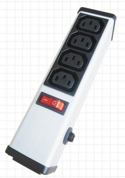 4 Outlets PDU Power Strip and Switch with Circuit Breaker , Smart Multi Plug Extension Cord