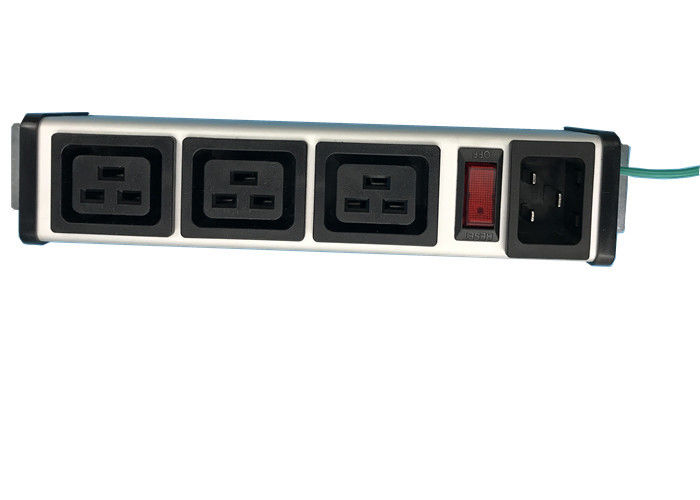 Aluminum Shell 3 Way PDU Power Distribution Unit With Switch Controlled IEC 320 C19