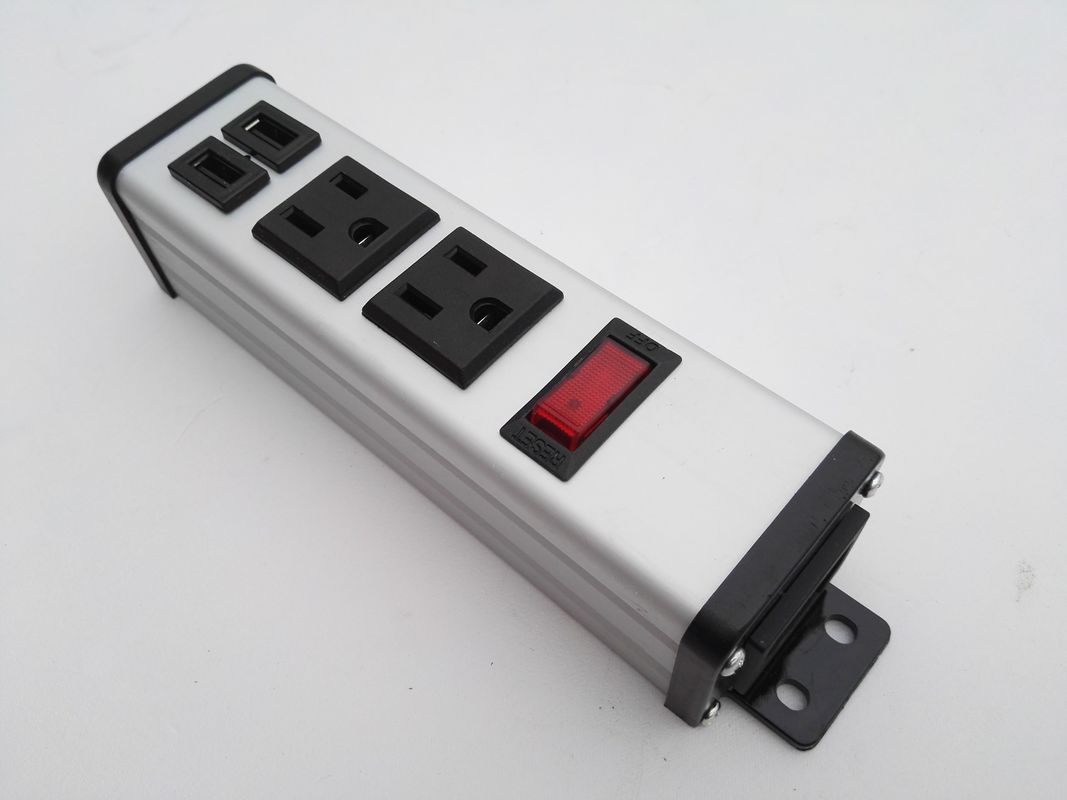 Universal 2 Outlet Travel Power Bar With Usb Ports Surge Protention / Overload Protection